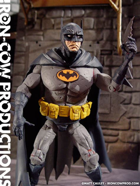 BATMAN and ROCKETEER Custom Toys in the HELLBOY Style of