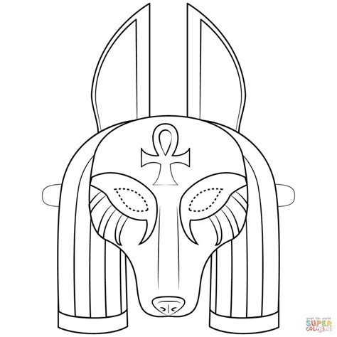 Anubis Mask coloring page   Free Printable Coloring Pages