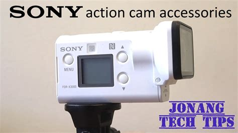 Review Sony Action Cam FDR-X3000r accessories (2018) - YouTube