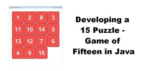 Developing a 15 Puzzle — Game of Fifteen in Java - Sylvain