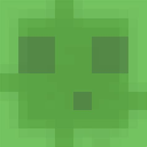 Slime face – Minecraft Faces
